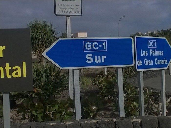Señales norte o sur en Gran Canaria