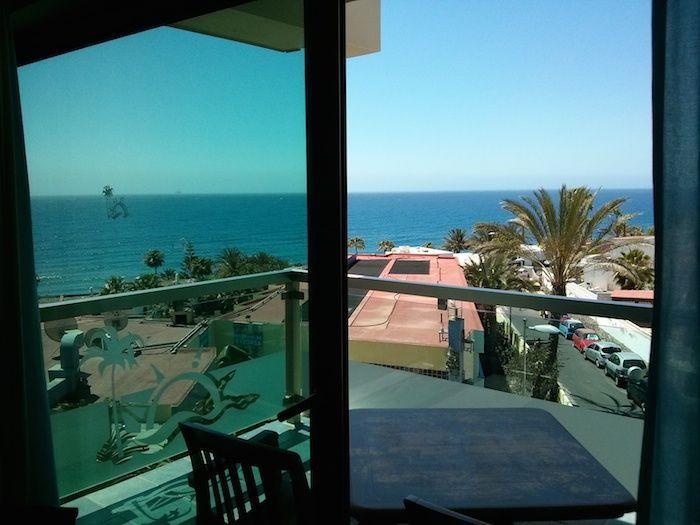 Vistas al mar desde los apartamentos Marinasol