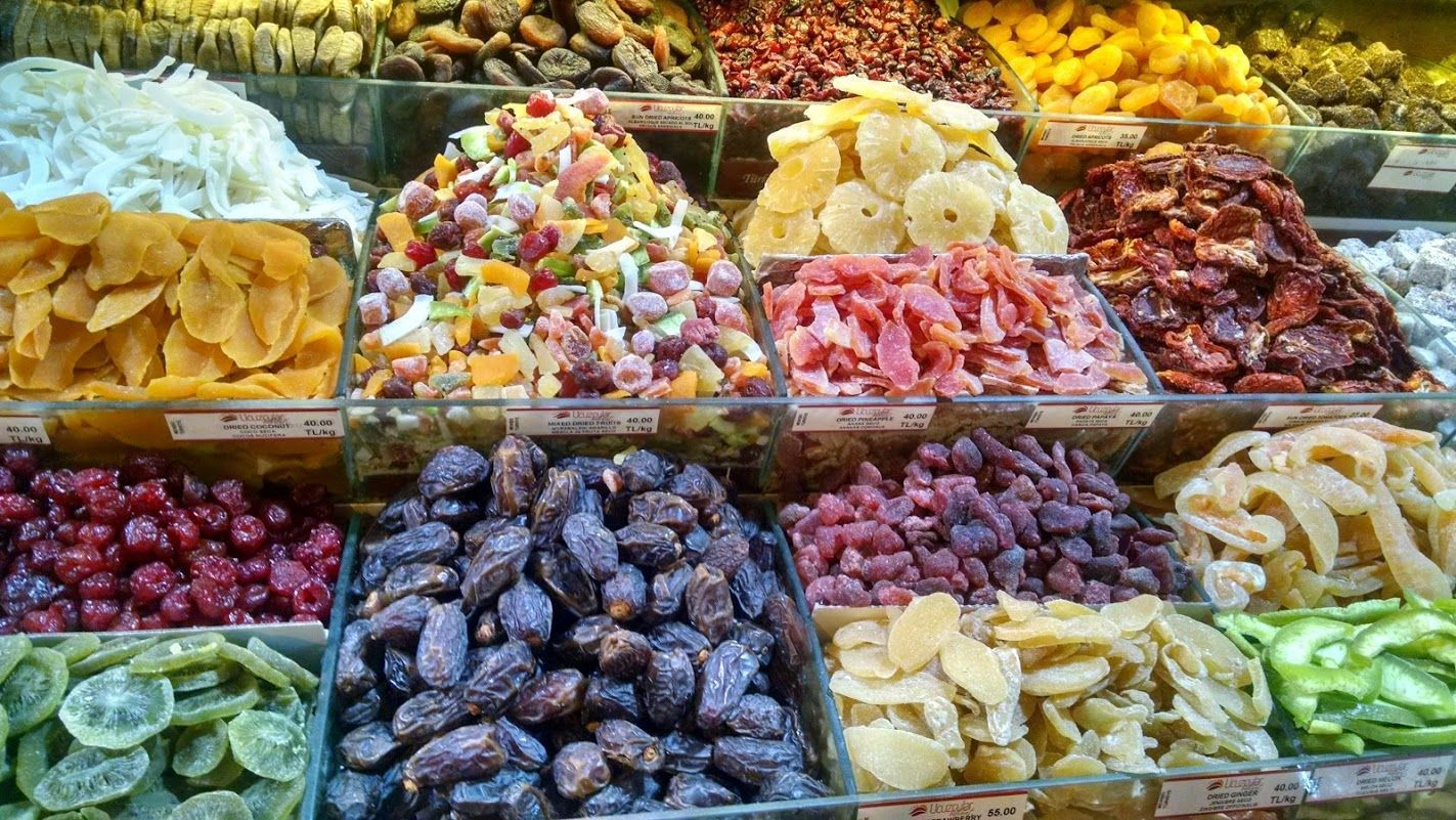 Frutos Secos típicos de Estabul en el Bazar de las Especias