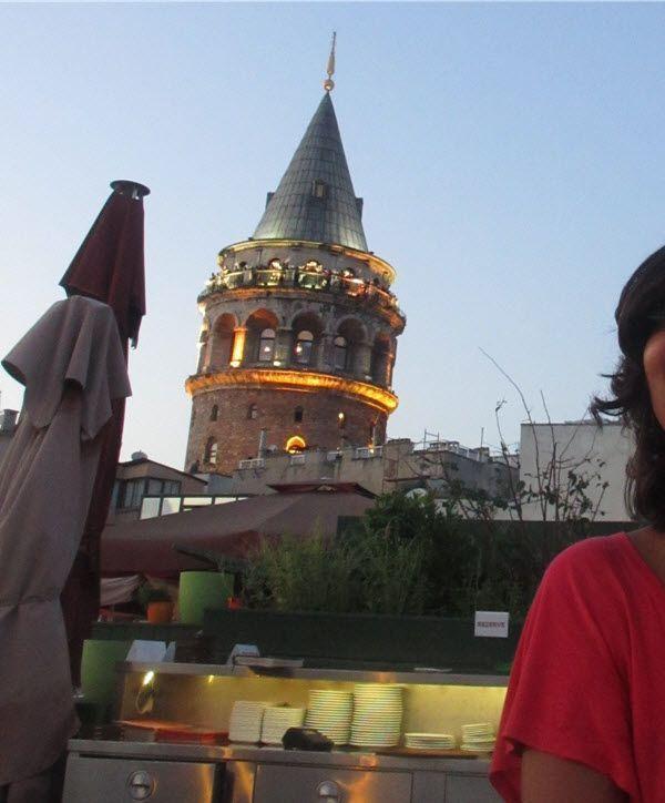 Torre Gálata desde Konak Café