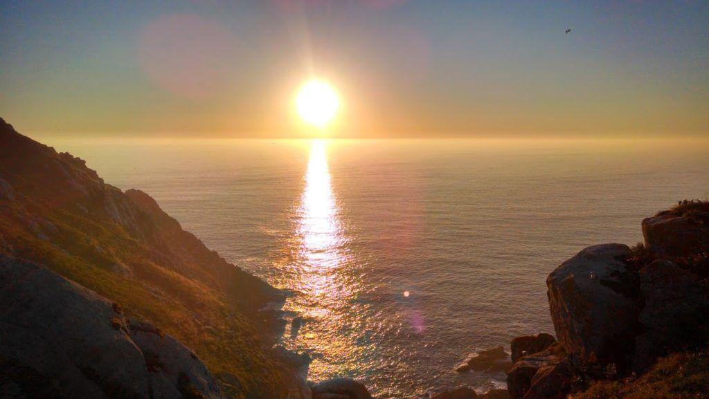 Puesta de Sol en las Islas Cíes desde Pedra A Campá
