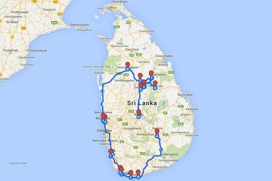 Viaje Sri Lanka de dos semanas