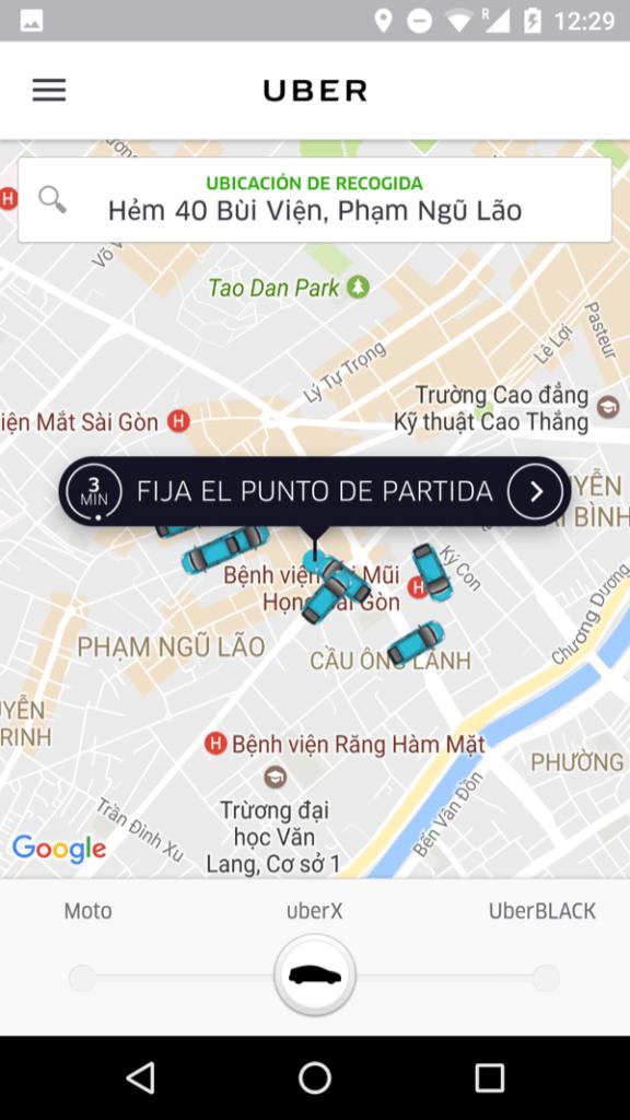 Uber en Ho Chi Minh (Vietnam)