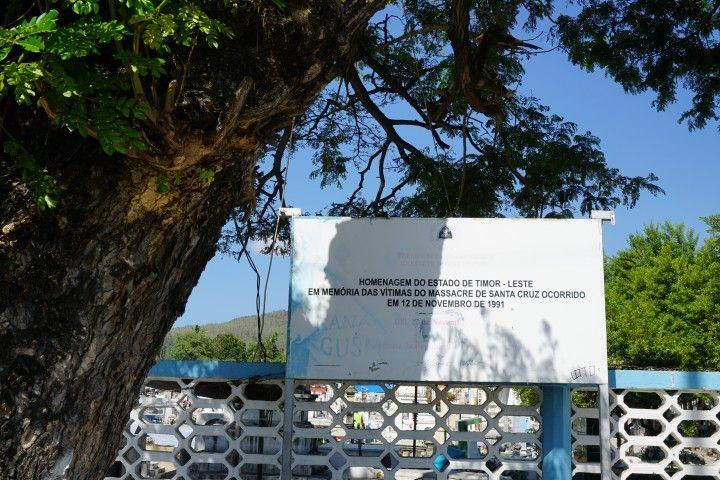 La entrada al cementerio de Santa Cruz, Dili