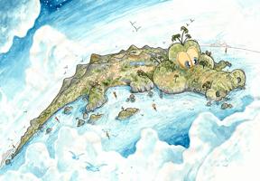 Cocodrilo se convierte en la isla de Timor