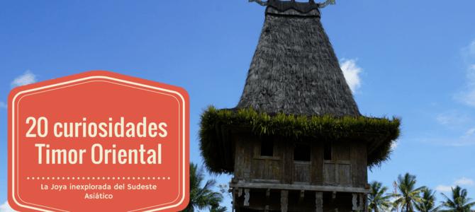 20 curiosidades sobre Timor Oriental, la joya inexplorada del Sudeste Asiático