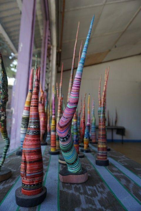 Esculturas en el colectivo de arte Gembel