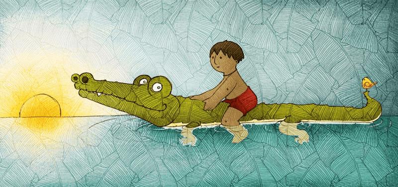 Leyenda del niño y el cocodrilo, timor leste