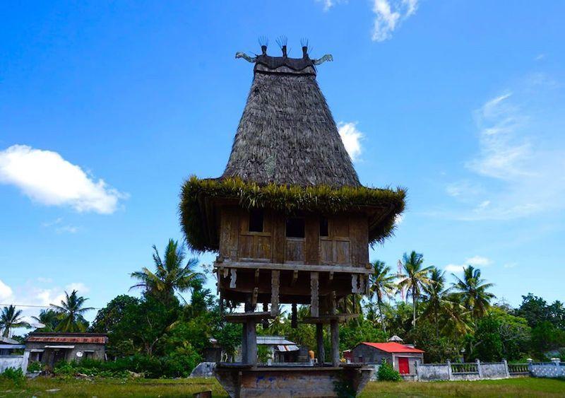 Una casa tradicional timorense en Los Palos