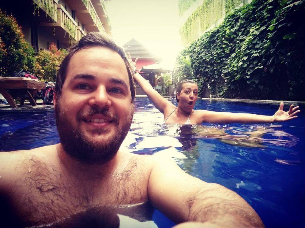 Desde la piscina del Hotel Bali Chaya