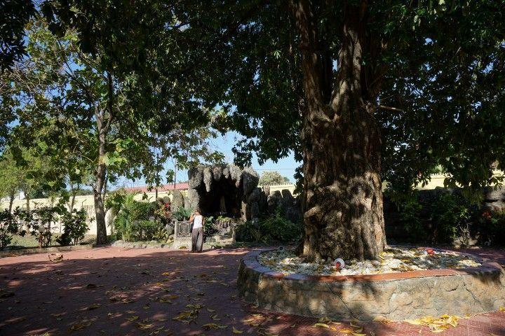 La entrada a la exposición Chega! es un pequeño oasis de paz
