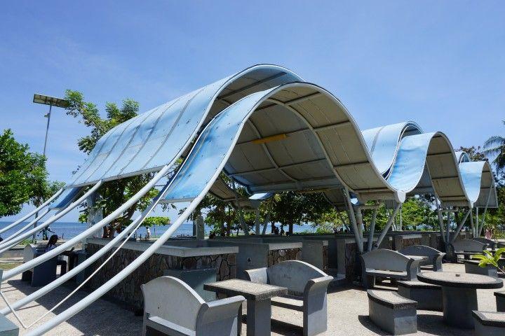Zona WiFi en el paseo marítimo de Dili