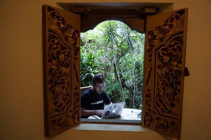 Trabajando en Alamanda Accomodation Ubud