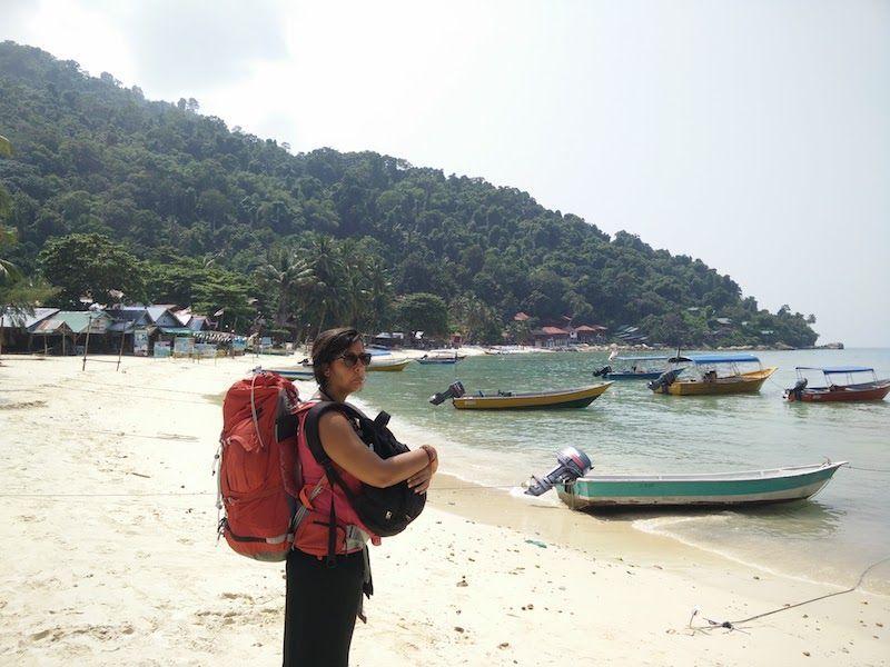 Ines despidiendo a las islas Perhentian (Malasia)