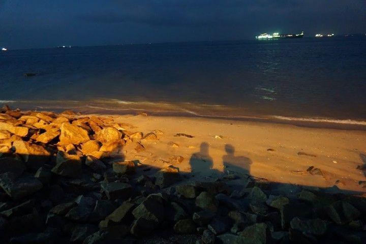 Nuestras sombras en el atardecer, George Town