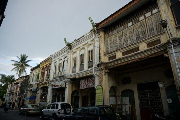 Una calle del centro histórico de George Town