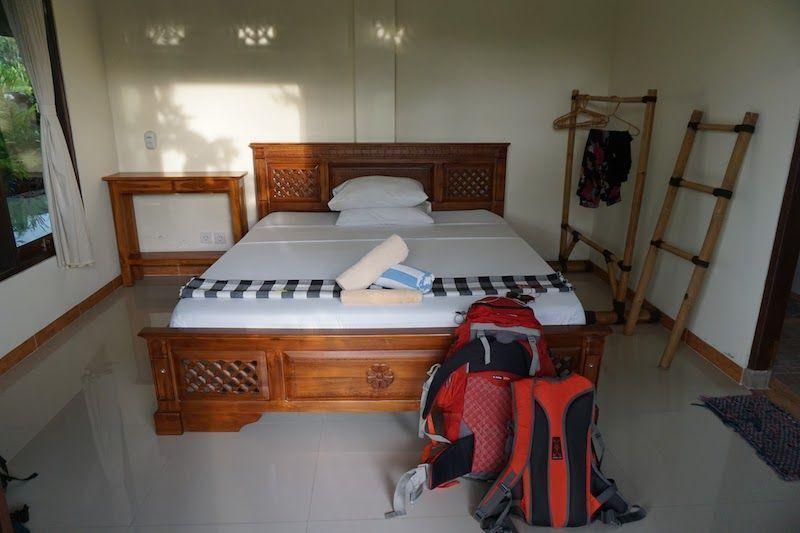 Habitación doble con vistas a la piscina, en Ubud