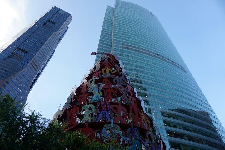 Arte entre rascacielos (Singapur)