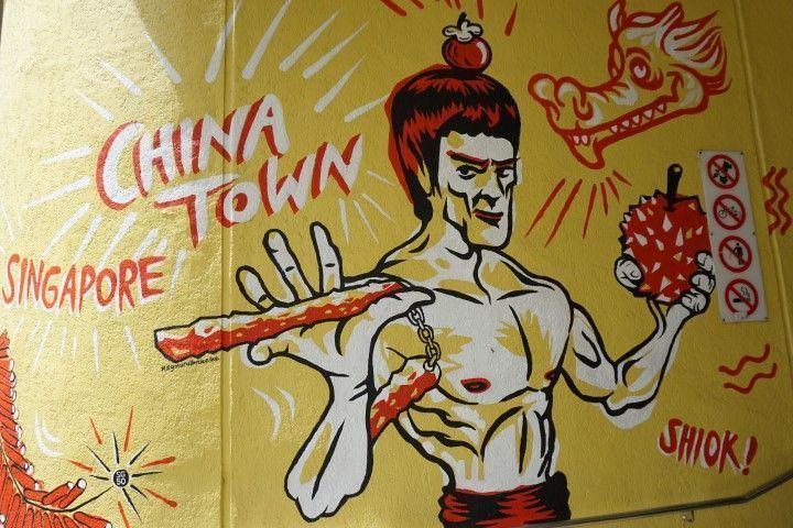 Mural en el barrio de ChinaTown, en Singapur