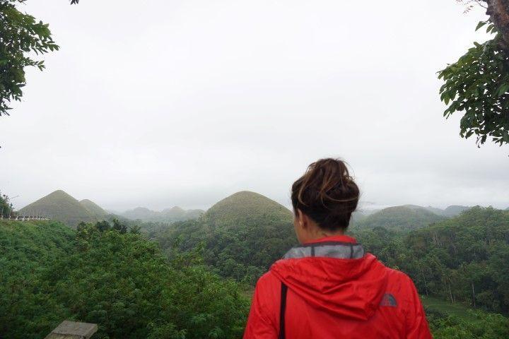 Las Chocolate Hills en día de lluvia... Impresionantes en cualquier caso.
