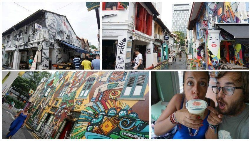 Más calles coloridas en Haji Lane. Al pasar por el 'Selfie Coffee' no pudimos evitar hacer la turistada y tomarnos un café con el logo de RandomTrip... jajaja