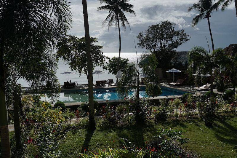 No conseguimos ver a ningún tiburón ballena así que tuvimos que conformarnos con disfrutar del relax y la piscina del hotel