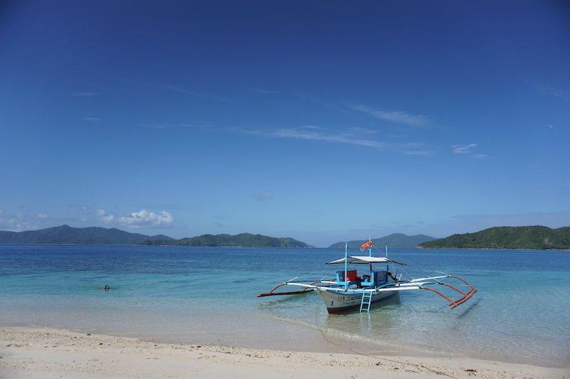 Una de las playas idílicas que visitamos durante el island hopping