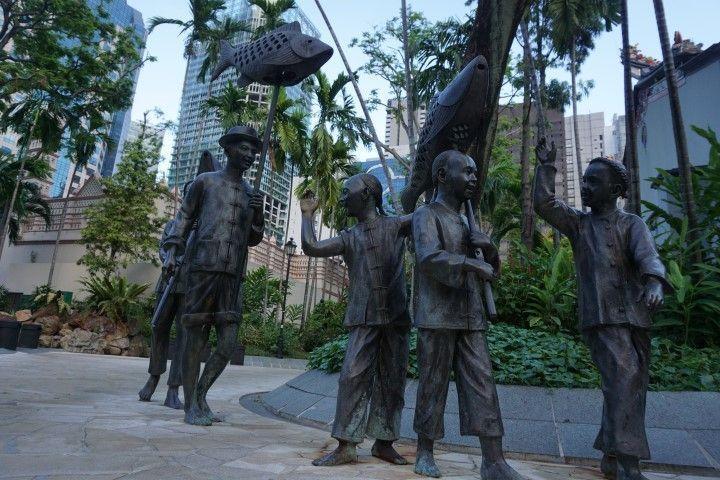 Jardín en ChinaTown (Singapur)