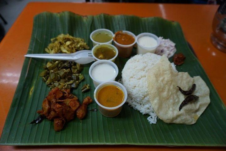 Nuestra comida en Little India. Deliciosa y asequible