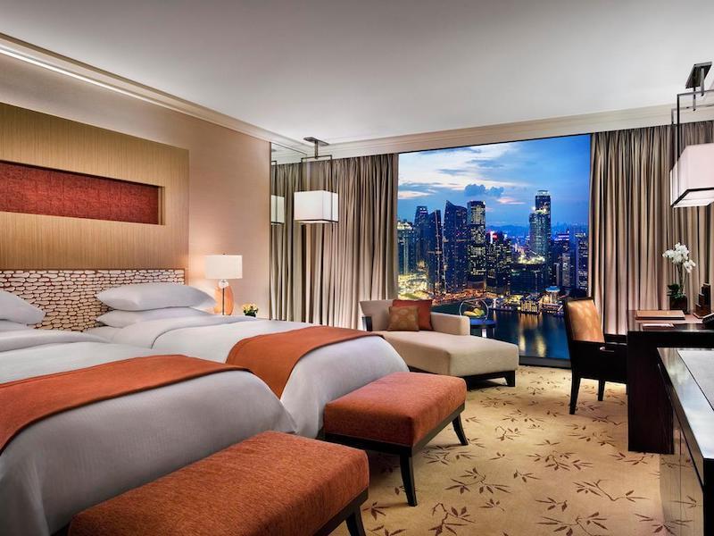 Habitación del Marina Bay Sands con vistas increíbles