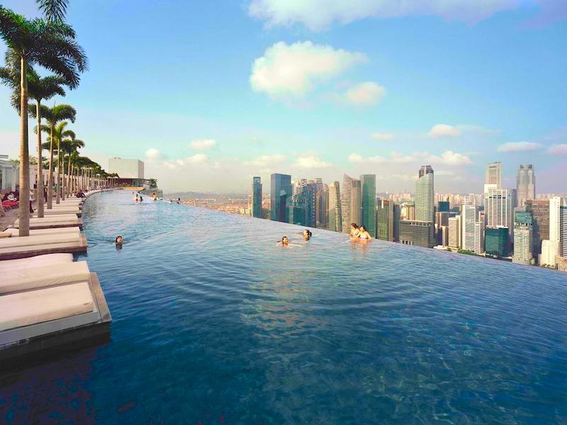 La famosa piscina infinita del Marina Bay Sands