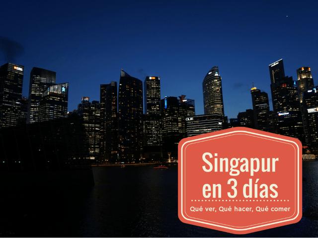 El Skyline de Singapur en Marina Bay