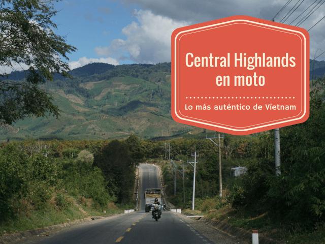 Una de nuestras motos por las Central Highlands de Vietnam. 5 días, casi 800 km y la mejor experiencia del viaje por el país.