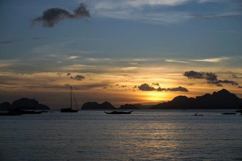 Puesta de sol desde El Nido