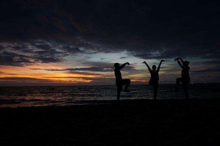 Sombras al atardecer. Long Beach, Phu Quoc