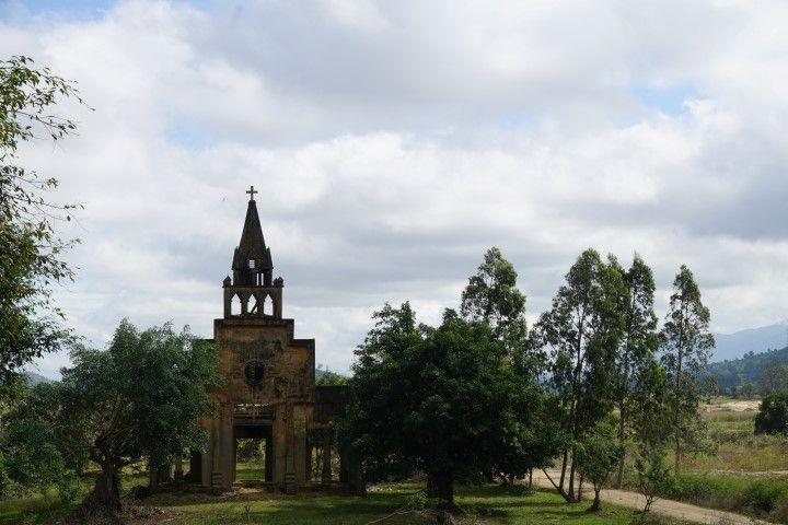 La fachada de la antigua iglesia.