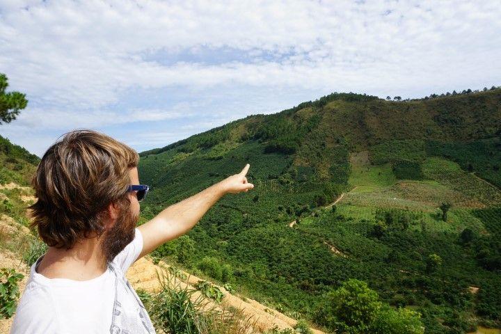 Chris en los alrededores de Dalat.