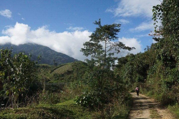 Inês en el Ho Chi Minh Trail, un paseo cargado de historia.