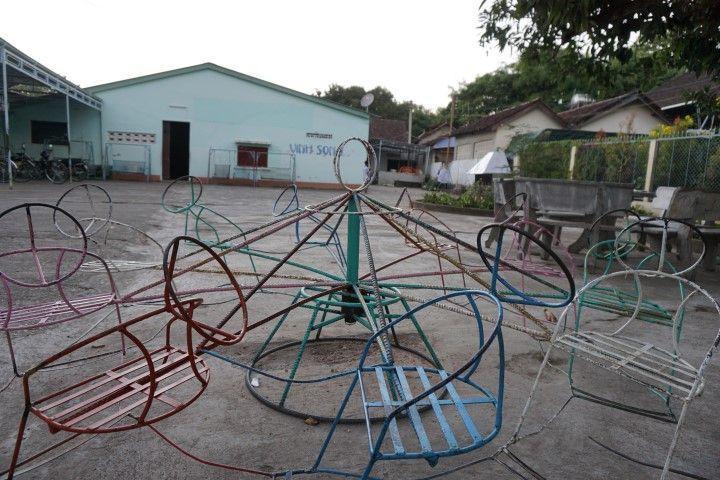 Patio del orfanato Vinh Son.