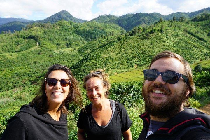 Parada para contemplar las plantaciones de café