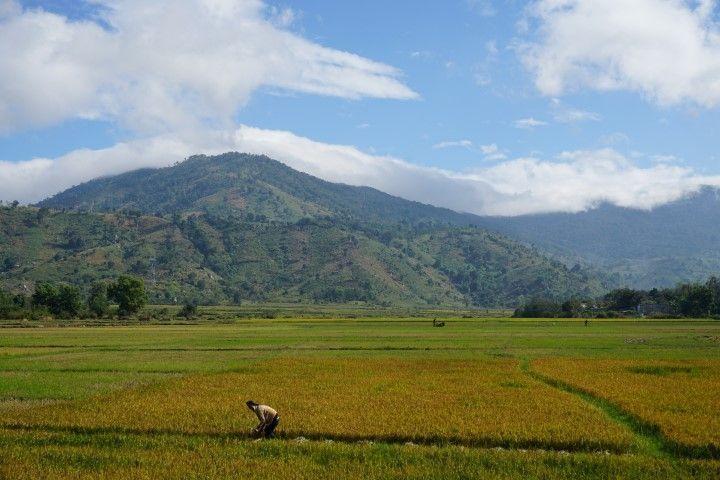 Uno de los impresionantes paisajes por el camino.
