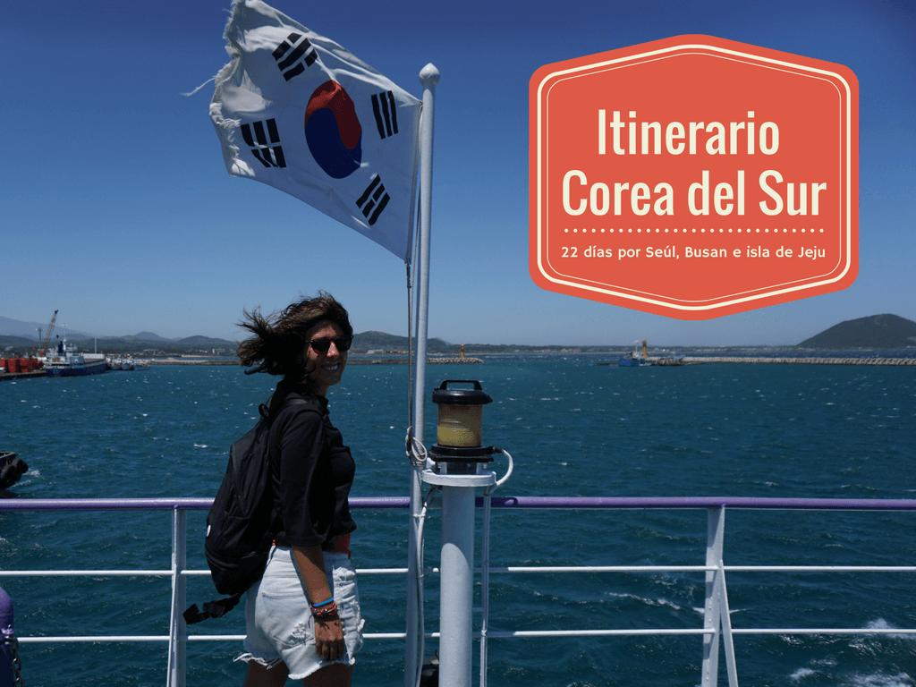 Inês en el ferry que conecta la isla de Jeju y la isla de U-do.