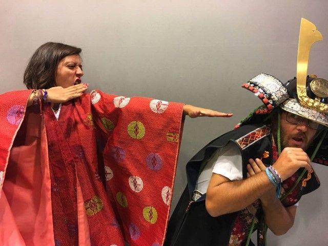 Cambiando el cuento: Samuraisito guarda la katana para ti solito