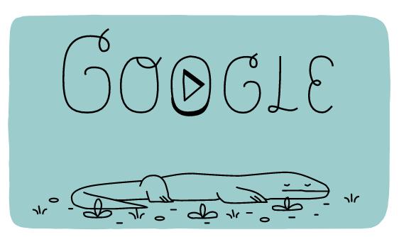 Doodle de Google sobre los dragones de Komodo