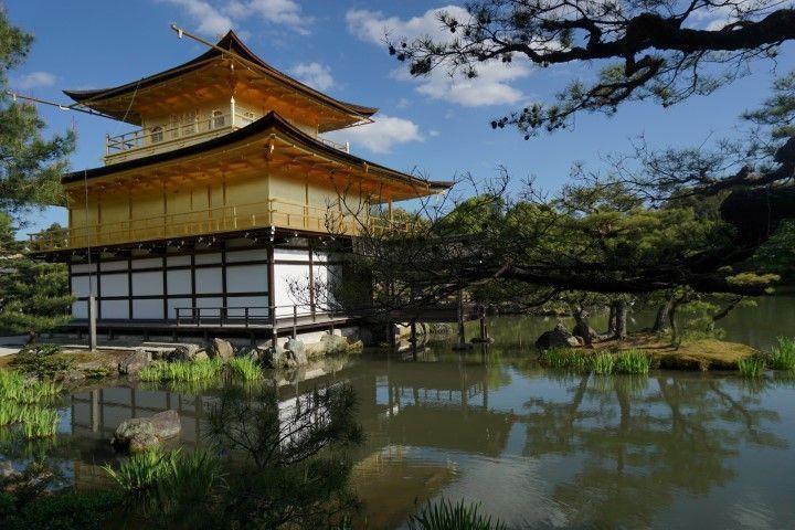 El Kinkakuji, o Pabellón Dorado, en Kioto.