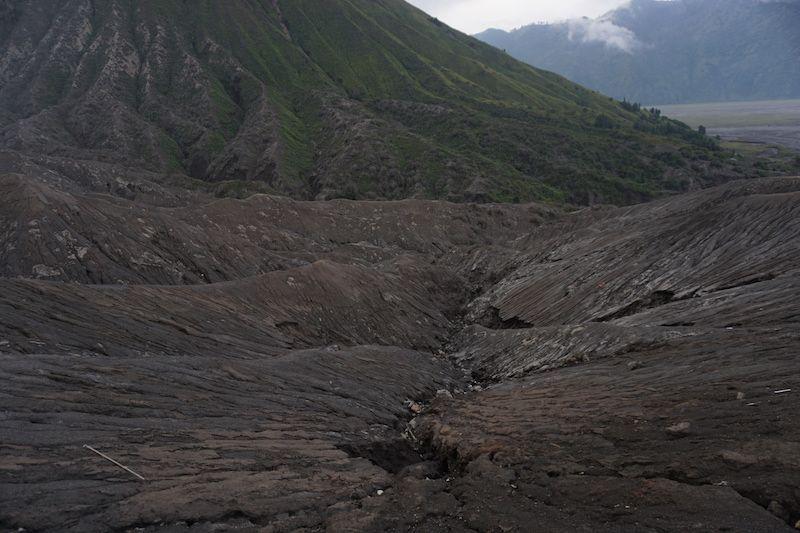 Paisaje alrededor del cráter del Bromo