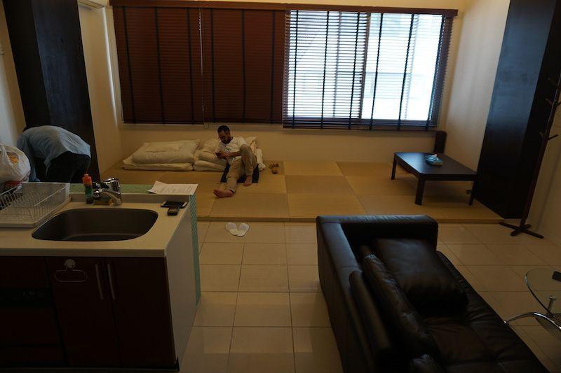 Salón del alojamiento en Osaka