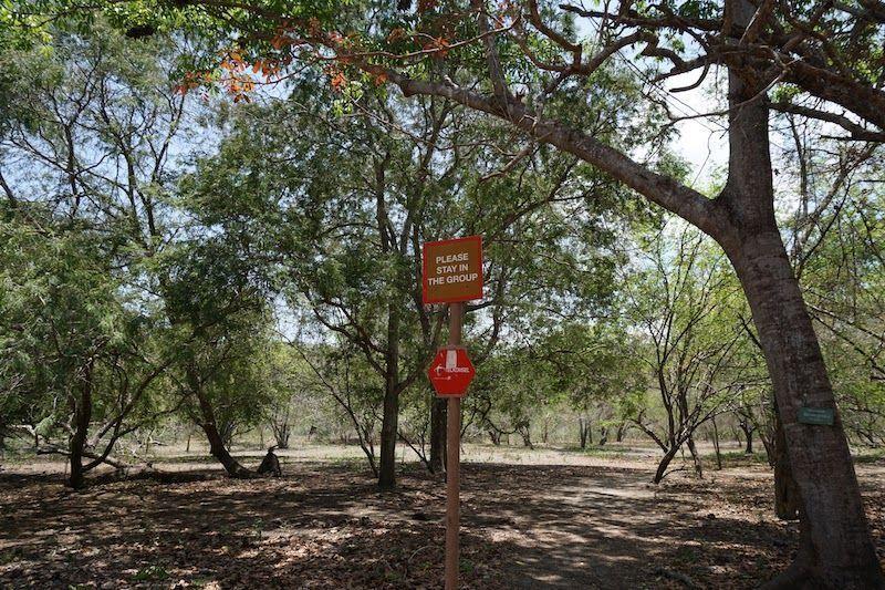 Aviso en el parque nacional de Komodo
