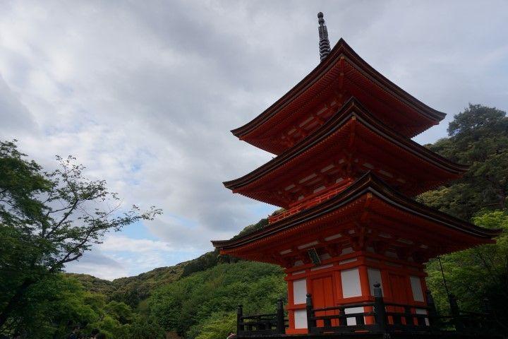 El templo Taisanji de cerca, Kioto.