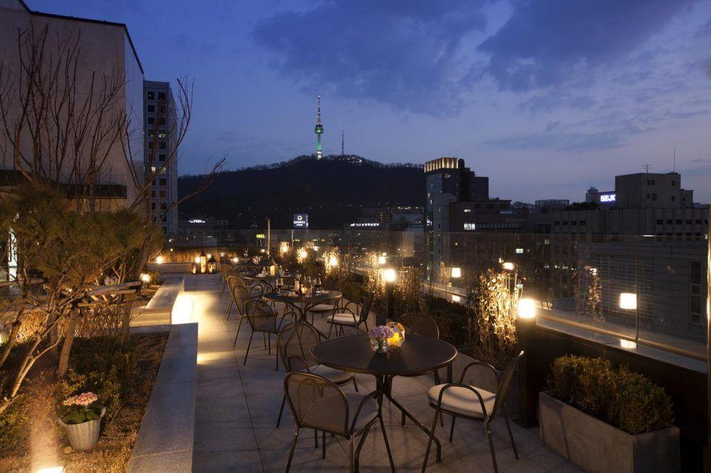 Terraza de hotel G2 en Seul